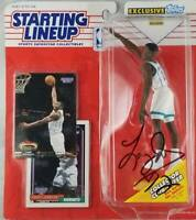 Larry Johnson autographed signed RARE Starting Lineup NBA Charlotte Hornets PSA