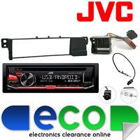 BMW 3 Series  E46 JVC CD MP3 Tuner USB Aux iPod Car Stereo & Flat Pin Fascia Kit