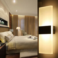 Modern LED Wall Light Up Down Cube Indoor Bedroom Sconce Lighting Lamp Fixture