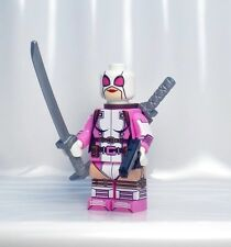 A1144 Lego CUSTOM PRINTED Marvel game INSPIRED GWENPOOL Minifig LIMITED QUANTITY