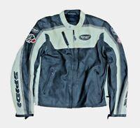 Spidi Vintage Motorcycle Motorbike Leather Jacket Black '77 embossed size XL