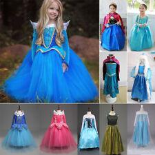 Frozen Girl's Elsa & Anna Costume Cosplay Principessa Toddler Abiti da festa New