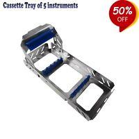 Chirurgische Tabletts / Kassette von 5 Dental instrument Sonden Scaler Rack Tray