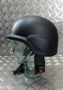 Genuine British Army Cadet Mk7 Style Fully Adjustable Helmet With Camo Cover