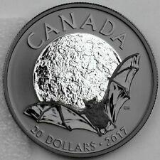 2017 Canada $20  Rhodium plated Little Brown Bat - Nocturnal by Nature #2