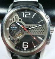 Vintage ORIENT Skeleton  Crystal Star Automatic 21 jewels Japan Men Wrist Watch