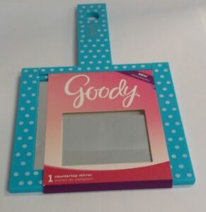 Goody Girls Countertop Mirror, 1X Magnification, Blue