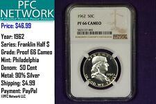 1962 Proof PF PR 66 Cameo Franklin Silver Half Dollar Philadelphia NGC