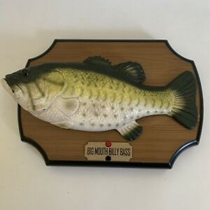 Big Mouth Billy Bass Singing Moving Dancing Fish Vintage Gemmy Industries 1999