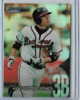 2018 Topps stadium club chrome refractor Chipper Jones SCC-125 Atlanta Braves
