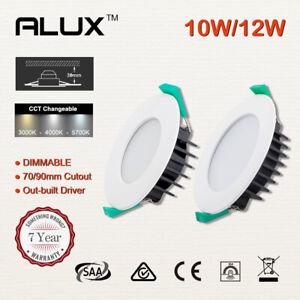 1X 10X 20X Led Downlight Kit CCT 240V 70mm/90mm Cutout Ceiling Light IP44 White