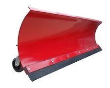 Räumschild Universal Schneeschild für Einachser / Rasentraktor Rot 125 x 40 cm