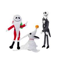 Disney The Nightmare Before Christmas Jack Skellington Zero Santa Plush Doll Toy