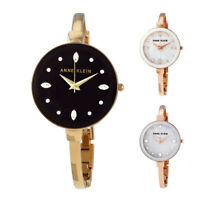 Anne Klein Crystal Dial Ladies Watch Set - Choose color