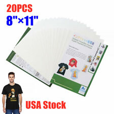 Us Stock 811in Inkjet Transfer Paper For T Shirt Heat Transfer Paper A4 20pcs