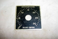Vintage Microphone Volume Control Aluminum Plate Off-30 Guitar Tube Amplifier