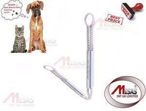 MISAS ENGLAND  Tick Remover Tweezers Pet Dog Cat Rabbit Flea Puppies Groom Tool