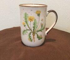 7 Oz. Dandelion Japan Coffee / Tea Mug  Yellow / White Tall Thin