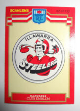 1986 Scanlens Rugby League Trading Card - Illawarra Steelers Emblem