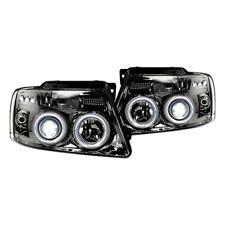 Recon Chrome Halo Projector Headlights with LED DRL for 04-08 Ford F-150