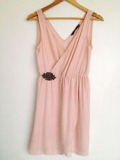 Zara Patternless Midi Casual Dresses for Women