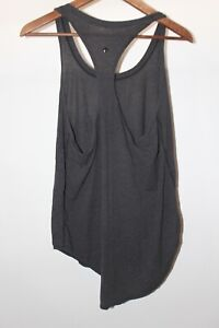 Lululemon 8 Dark Gray Loose Fit Racerback Tank Top Medium Swoop Bottom Racerback