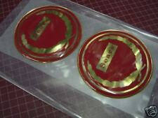 NEW Repro Sears Allstate Vespa Puch Gilera badges Red 65mm diameter Vintage Styl