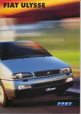 Fiat Ulysse S EL 2.0 16v JTD 2001-02 Original UK Sales Brochure No.04.2.5438.52