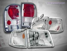 93-97 FORD RANGER CLEAR HEADLIGHTS + CORNER LIGHTS + CLEAR ALTEZZA TAIL LIGHTS