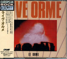 LE ORME Live Orme JAPAN Only 2 CD 1993 W/Obi Long OOP! PINK FLOYD RARE!!