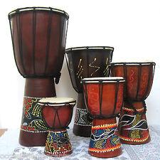 Set  5 Bonghi, h 40-30-25-20-15 cm,  Jambè, Tamburo, Drum, Alta Lavorazione
