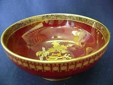 Beautiful ART DECO CARLTON WARE ROUGE ROYALE MIKADO bowl  in perfect condition