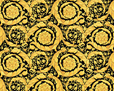 Versace Home Wallpaper 935834 Tapete gold schwarz Metallic Satin Barock Vlies