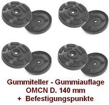 Gummiteller für Hebebühne OMCN D. 140 mm mit 3 Befestigungspunkte- Gummiauflagen