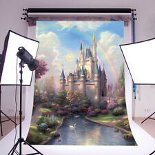 Fairy tale Vinyl Photography backdrop Background studio props Castle 5x7FT DB759