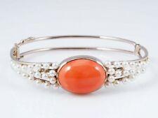 Echtschmuck-Armbänder im Armreif-Stil mit Perle