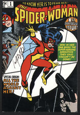 Carmine Infantino SIGNED Vintage Art of Marvel Spider Woman #1 Art Post Card