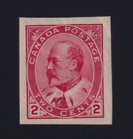 Canada Sc #90A (1903) 2c carmine King Edward VII Imperforate Mint VF NH