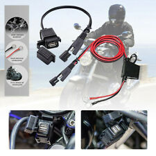 Waterproof Motorcycle 12v SAE to USB Phone GPS Charger Cable Adapter Inline Fk7g
