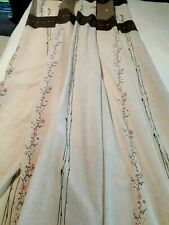 """Shower Curtain Vintage 66 X 70"""" Brown and Pink Excellent Condition"""