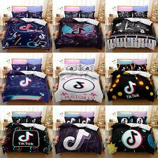 Kids 3D Tik Tok 2/3PC Bedding Set Quilt Duvet Cover Pillowcase Single Double-201