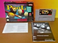 Championship Pool  SNES Super Nintendo AUTHENTIC Tested Game Complete w/ Manual