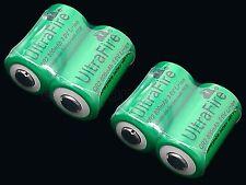 4PC UltraFire CR2 CR-2 800mAh 3.0V Li-ion Rechargeable Battery W/Case GOOD ITEM