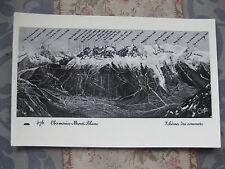 CPA 1950 1960 Chamonix Mont-Blanc Schéma des Sommets Haute-Savoie