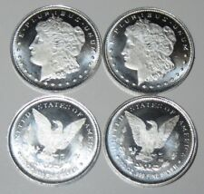 Lot of 4 Morgan 1/10 oz .999 Fine Silver Rounds