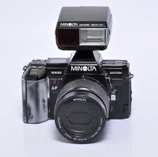 Minolta Maxxum 7000 35mm Film Camera w/ an 80-200 Lens & External Flash Unit Kit