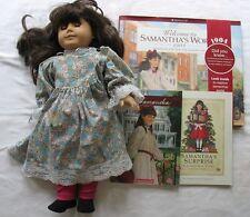 American Girl Doll Samantha W Clothing & 3 Books Pleasant Company Brown Hair/E