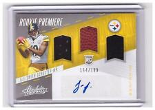 2017 Absolute JuJu Smith-Schuster RC Auto Autograph Triple PATCH Jersey #D !!!