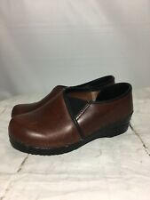 Dansko Clogs Size 37 6.5-7 Professional Nursing Shoes Leather Brown