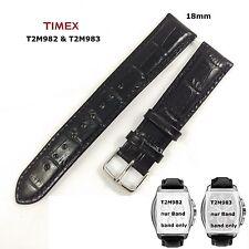 Timex Bracelet de remplacement t2m983 & t2m982 T-Series Chronographes tonneau-Cordon cuir